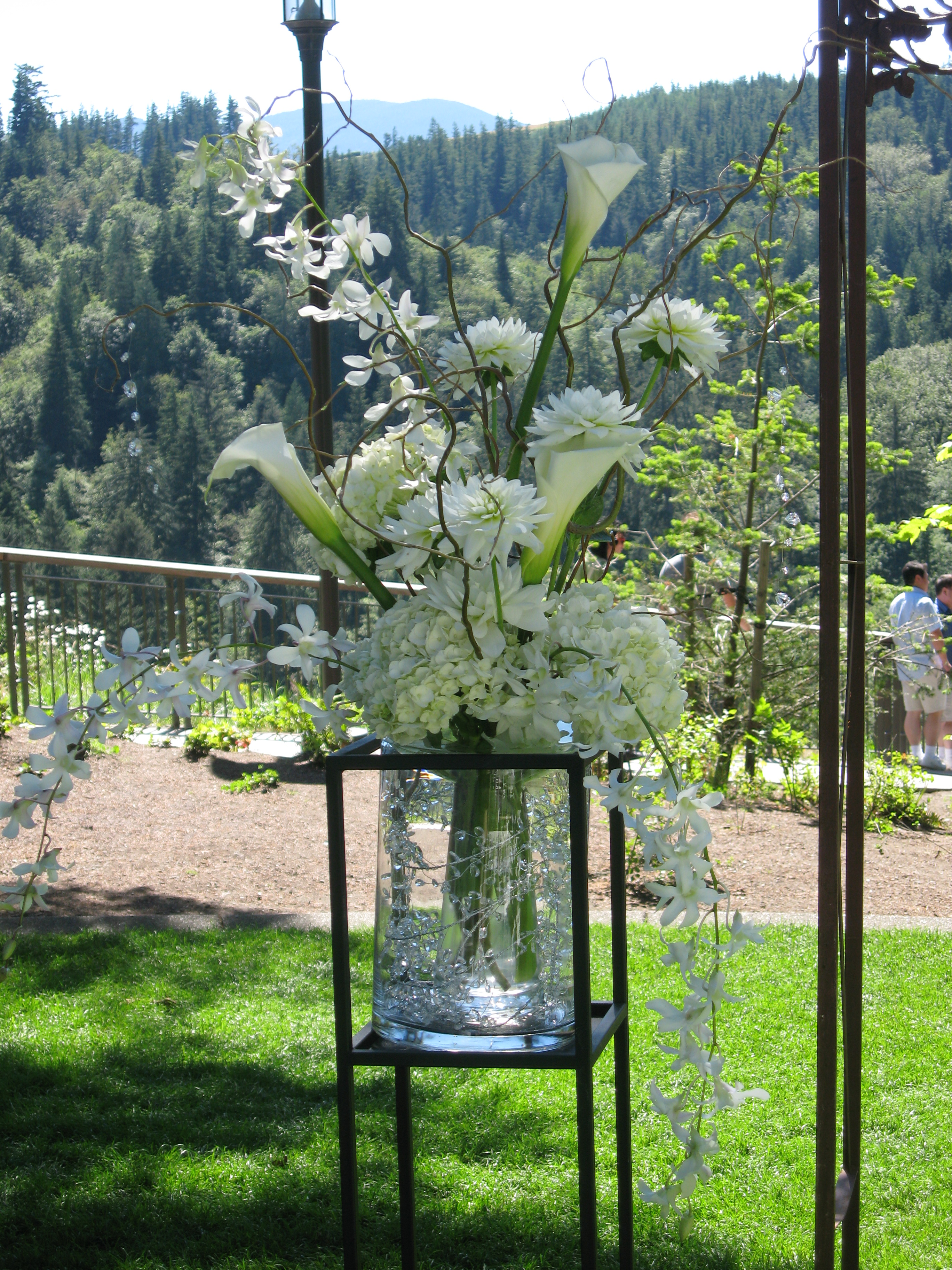 All white ceremony piece