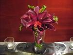 Brilliant burgundy bouquet
