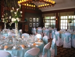 Tall white reception centerpieces