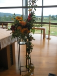 Fall ceremony flowers