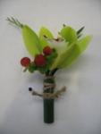 Mini cymbidium orchid boutonniere