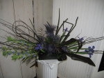 Black and blue centerpiece
