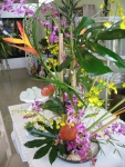 Luau themed gala centerpiece
