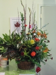 Large plant and cut flower arrangement