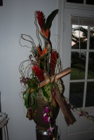 Tropical pedestal design