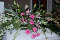 Stargazer lily casket piece