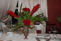 Red buffet piece