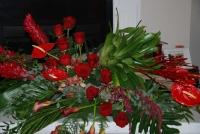 Exotic red casket piece