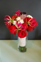 Exotic Red Bridal Bouquet