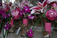 Vibrant pink bouquets