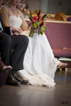 Bride with her custom designed bouquet