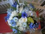 Wildflower inspired bouquet in blue and white